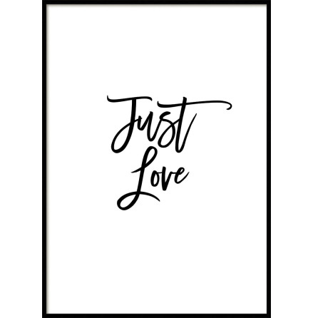 Just Love, Poster