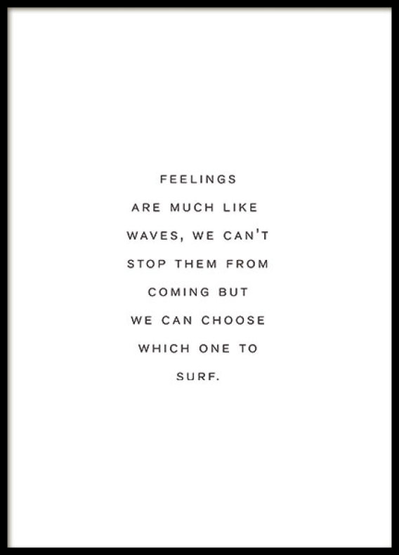 FEELINGS, CITAT POSTER