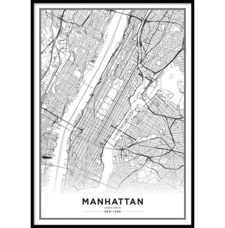 POSTER, NEW YORK CITY MAP