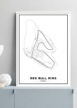 Poster, Red Bull Ring F1 print vit