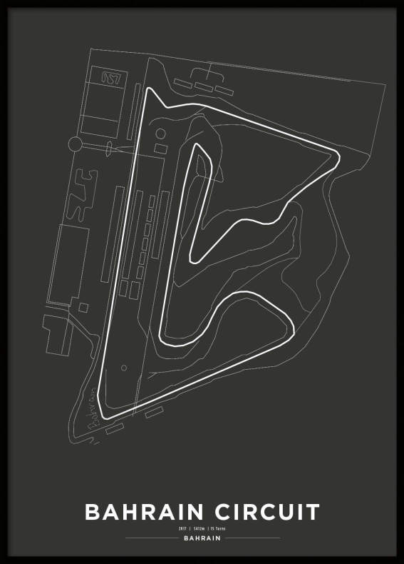 Poster, Bahrain International Circuit Formula 1 Print