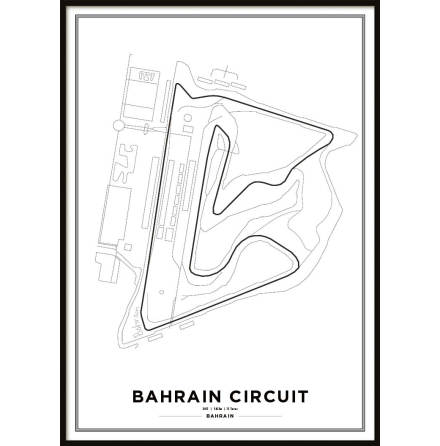 Poster, Bahrain International Circuit Formula 1 Print Vit