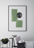 Mint Green Square Circle, Poster