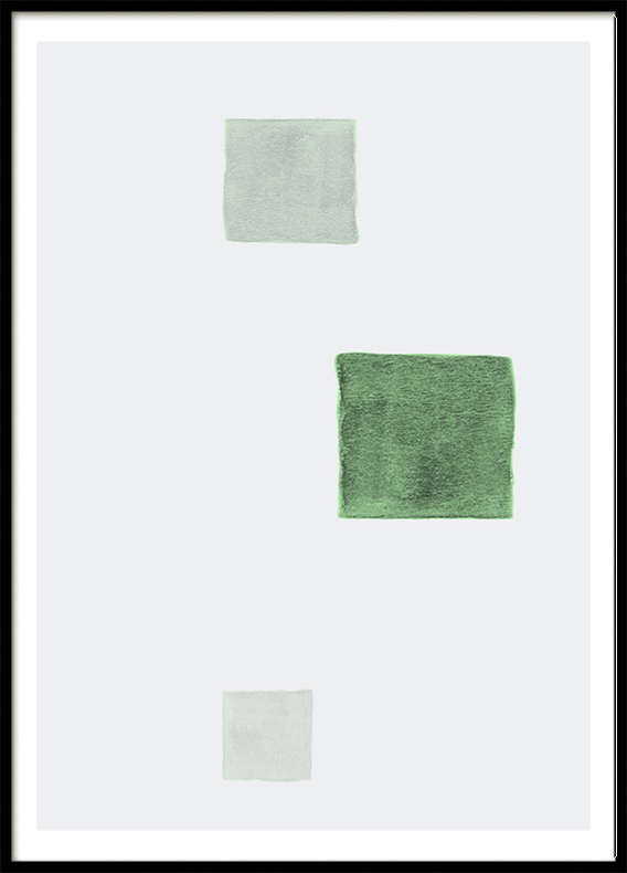 Mint Green Square, Poster