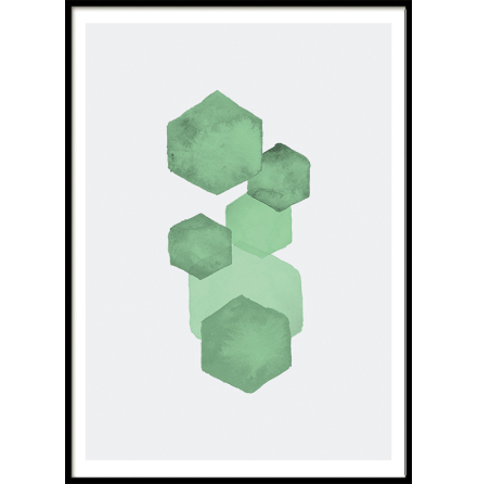 Mint Green Pentagon, Poster