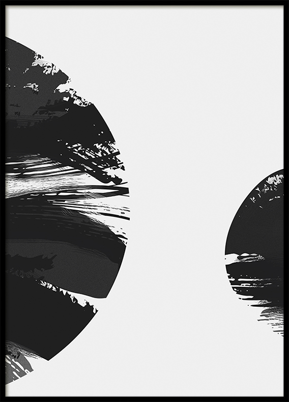 Poster, Galaxy 3: Dark Horizontal Strokes
