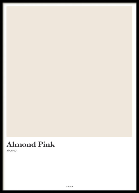 ALMOND PINK, POSTER
