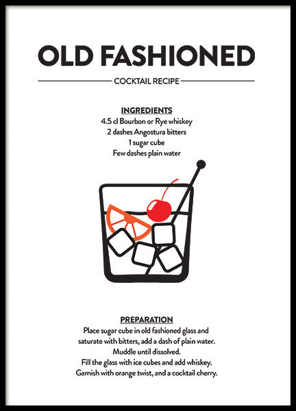 OLD FASHIONED, POSTER