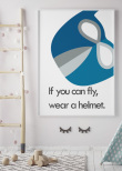 Wear a Helmet, Superhero, Poster