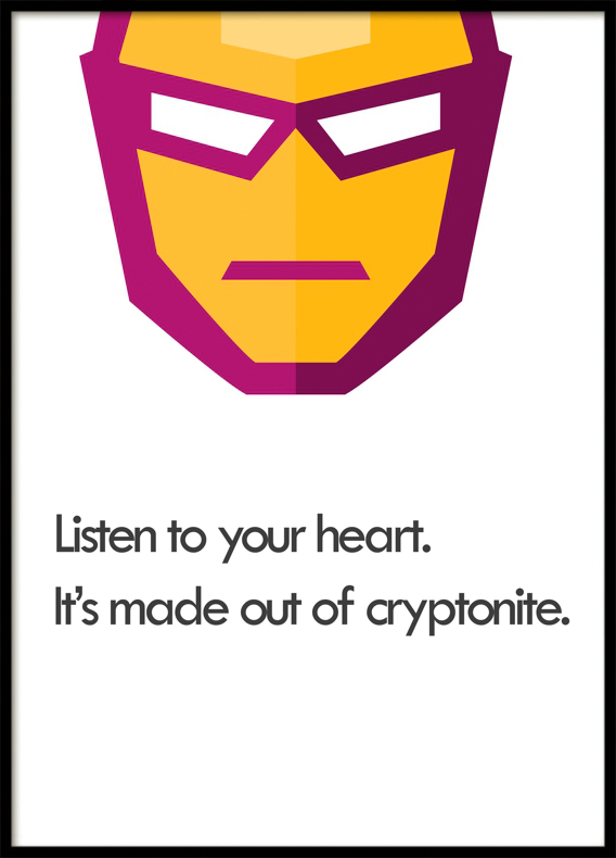 Listen to Your Heart, Superhero, Poster