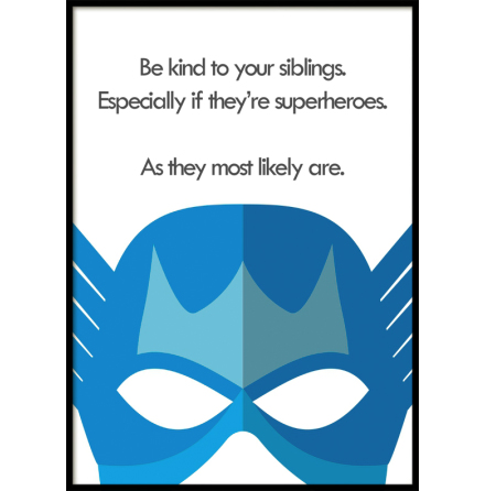 Siblings, Superhero, Poster