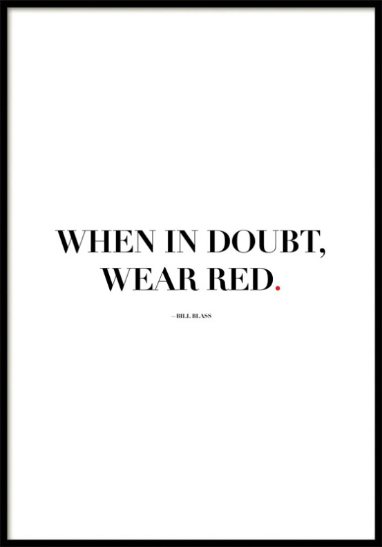 WEAR RED, POSTER