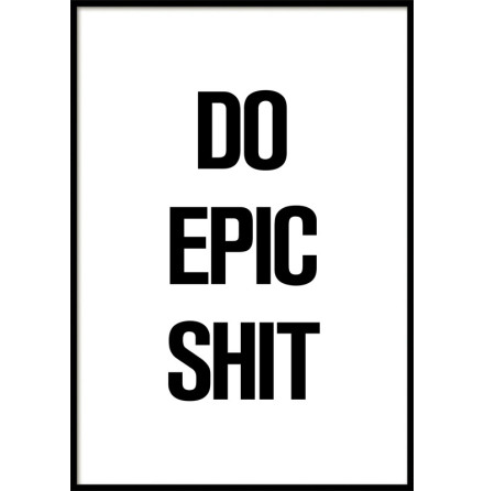 DO EPIC SHIT, POSTER