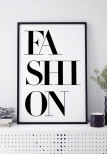 FASHION TEXT, POSTER