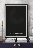 BLACK ROCK CITY BLACK, POSTER