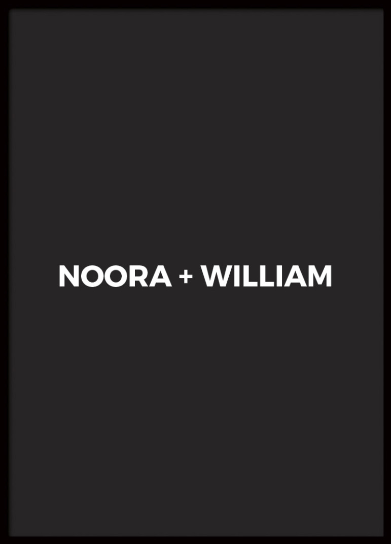 POSTER NOORA + WILLIAM SVART