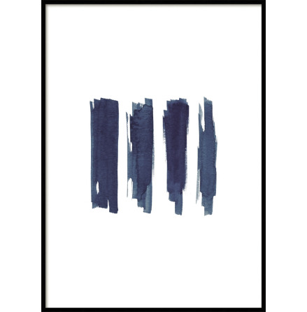 POSTER, BLUE BRUSH