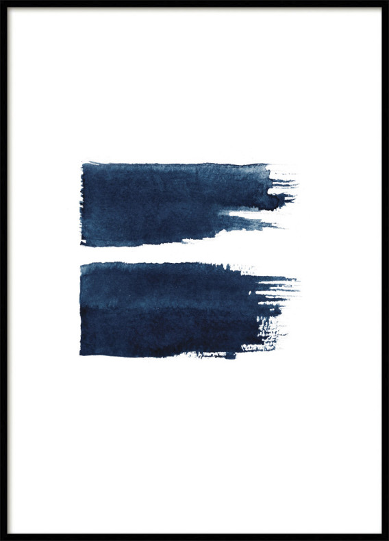 POSTER, BLUE STROKES